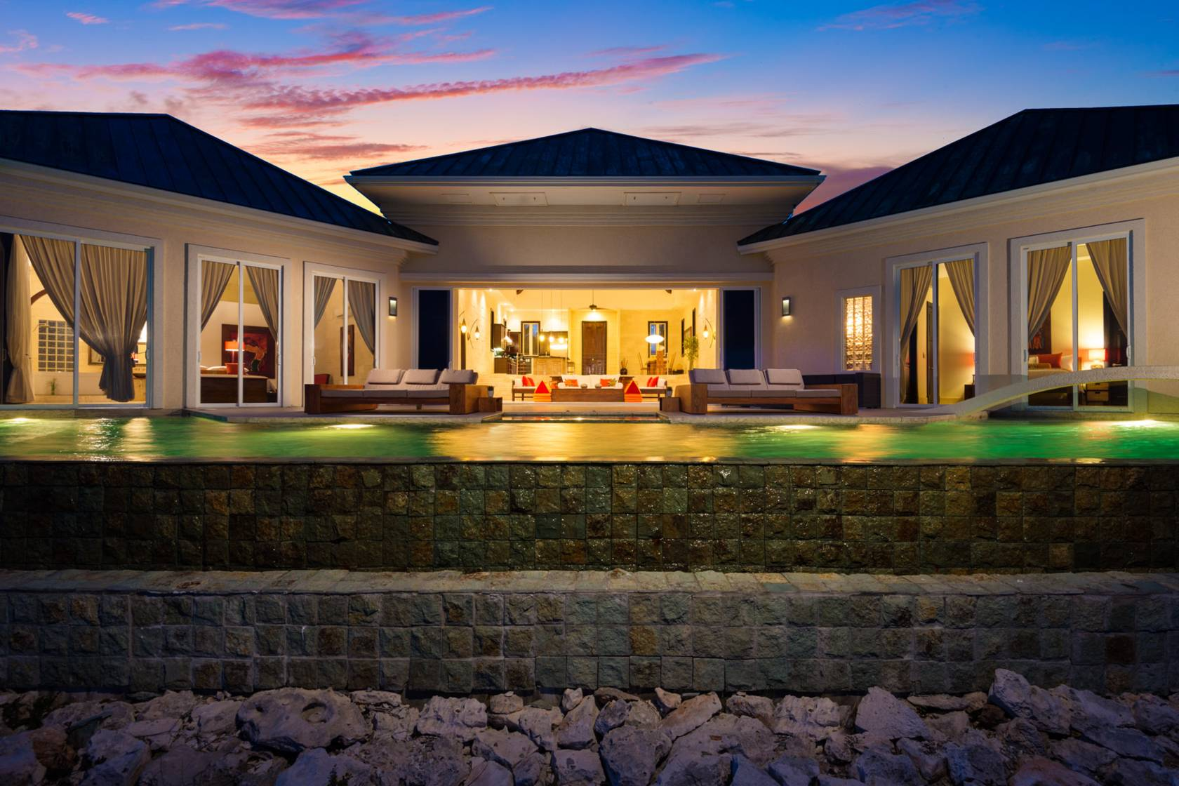 Night at Villa Balinese, Turtle Tail, Providenciales