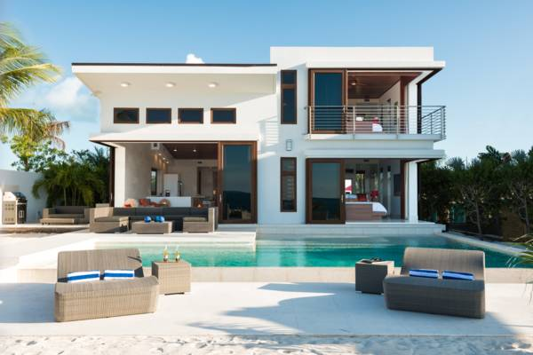 Luxurious and modern beachfront villa, Beach Kandi, located on Grace Bay, Turks and Caicos