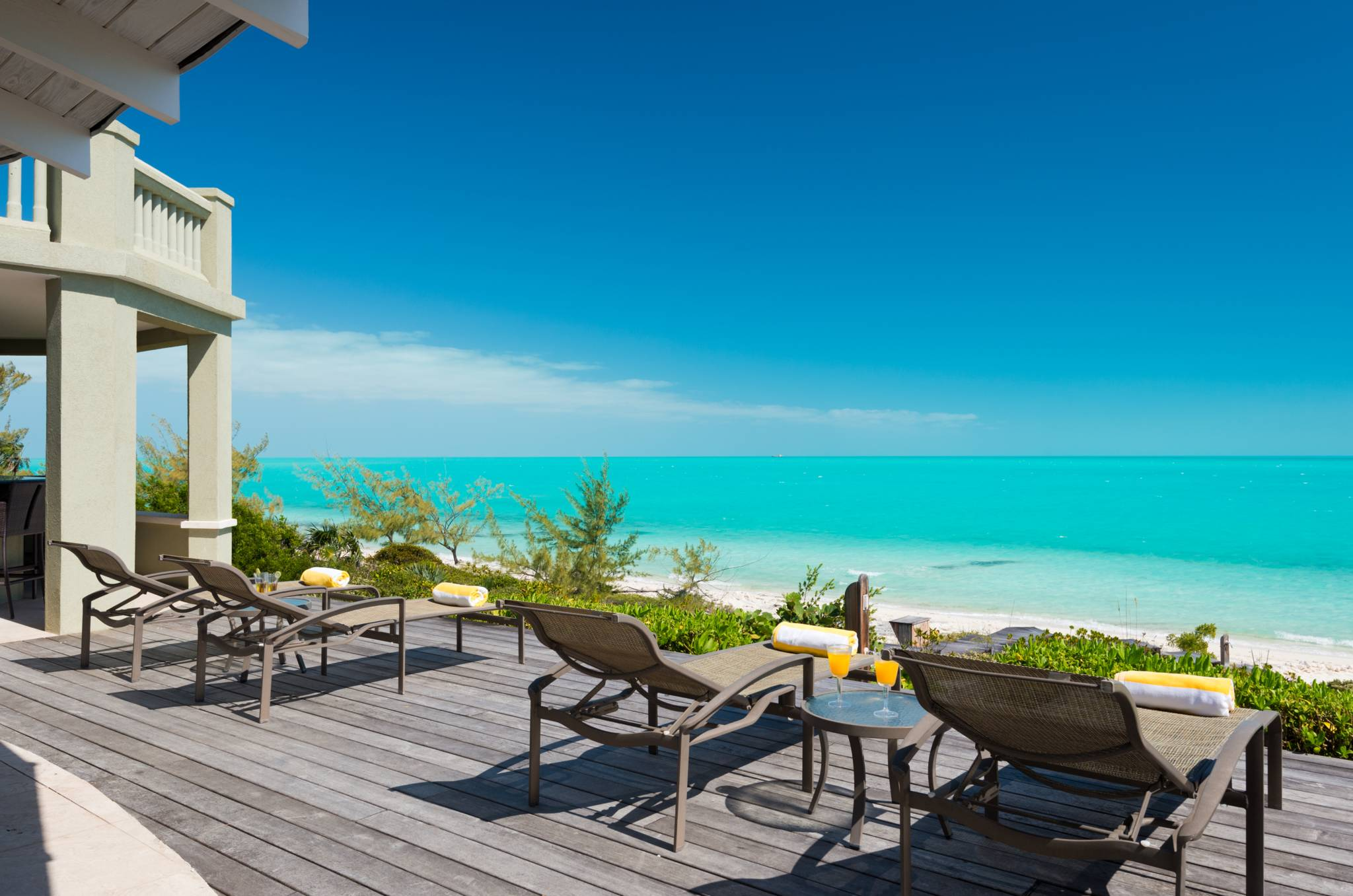 Calms seas and quiet beach define Casa Varnishkes luxury vacation villa