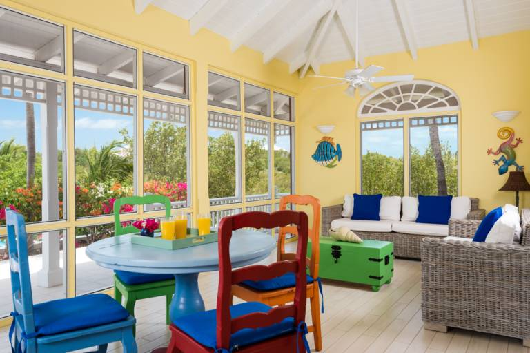 Etoile de Mer is a beautiful 4-bedroom Caribbean-style villa for rent on Sunset Bay, Turks and Caicos