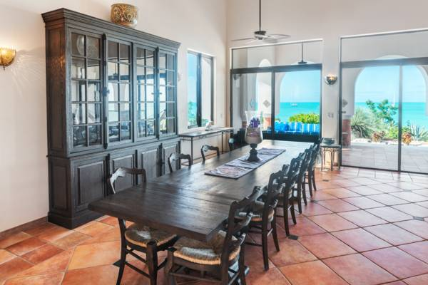 La Koubba - formal dining for 16- luxury beach estate villa in Providenciales Turks and Caicos