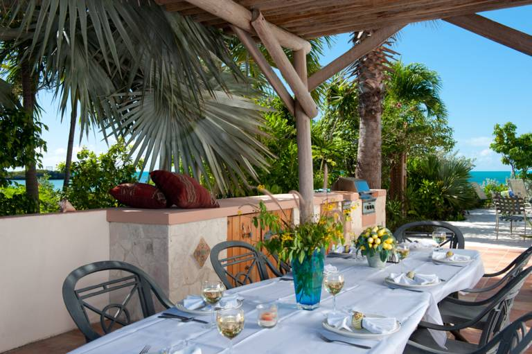 Outdoor dining and Barbeque at La Koubba Villa, Turks and Caicos
