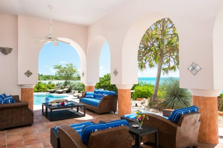 La Koubba Sapodilla Bay Beach - covered patio at poolside