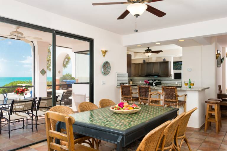 Breakfast Nook at La Koubba Villa in Providenciales