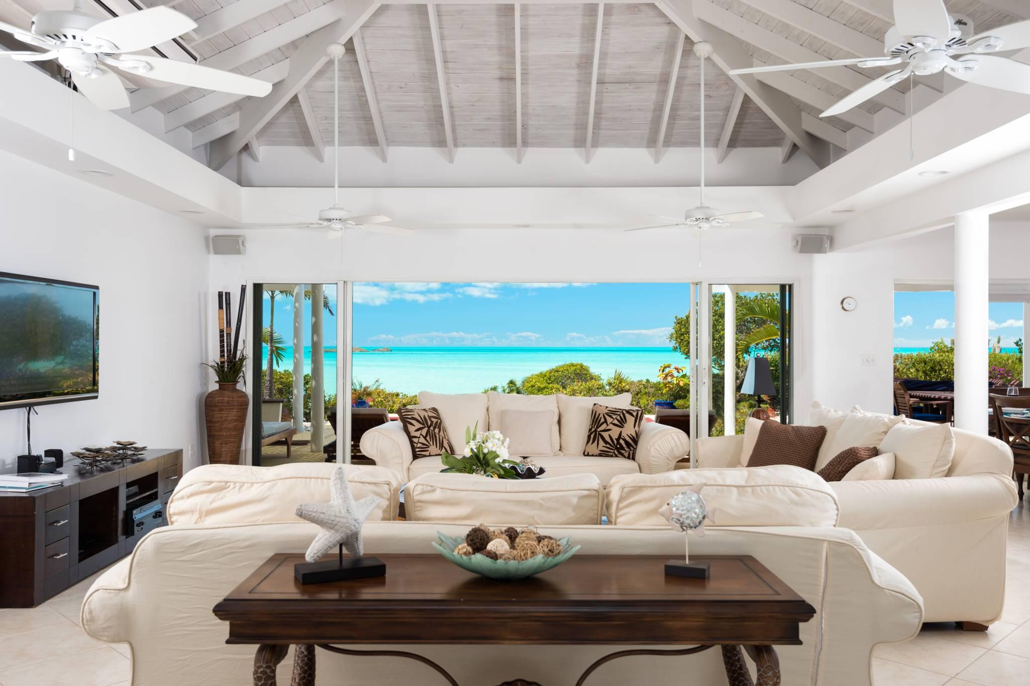 Sandy Shore Villa overlooking the Caicos Banks.