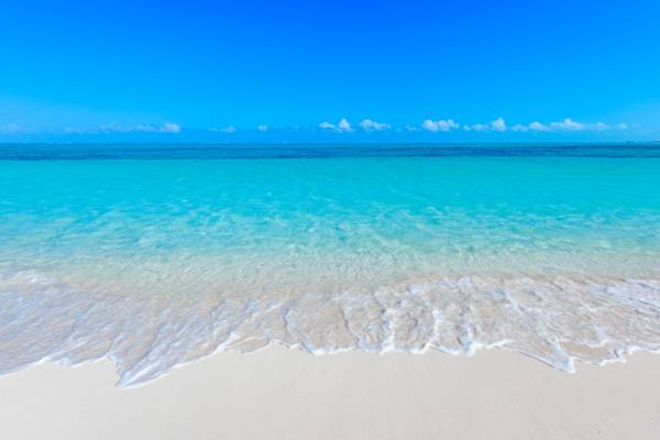 Beach at Serenity House holiday villa on Grace Bay Turks and Caicos