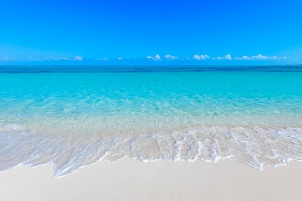 Beach at Serenity House holiday villa on Grace Bay Turks and Caicos