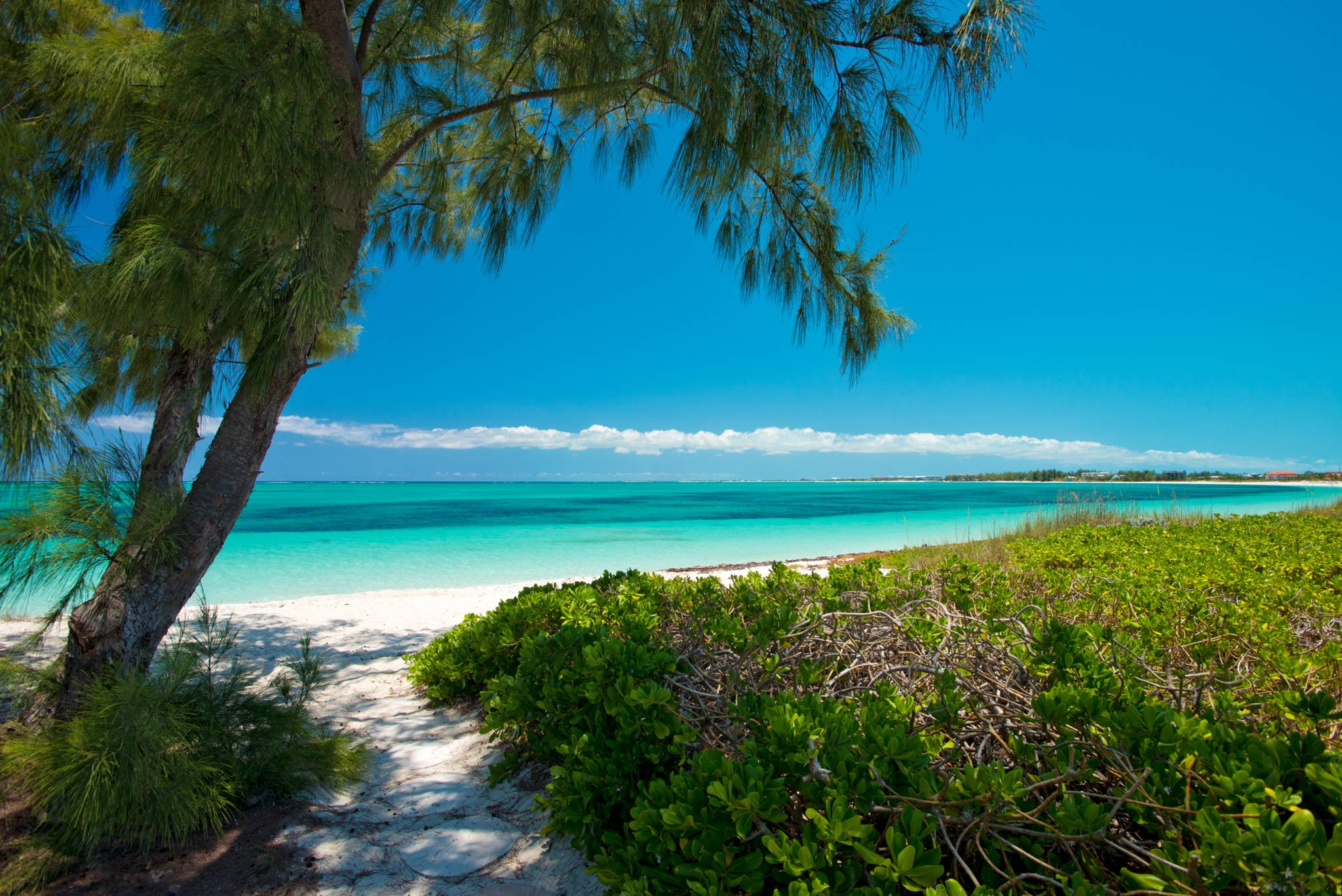Beach entrance from Serenity House on Grace Bay Beach Providenciales